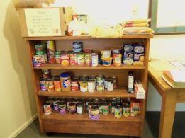 Food shelf at St. Elizabeth
