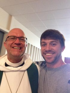 Look Mom! Selfie with Father John.