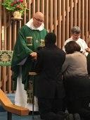Communion at St. Elizabeth